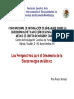 P7-PERSPECTIVAS DESARROLLO BIOTECNOLOGIA