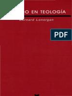 Bernard Lonergan - Método en Teología