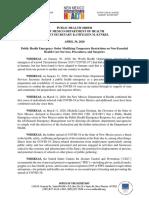 DOH PHO 4_29 (Non-essential Med Procedures)