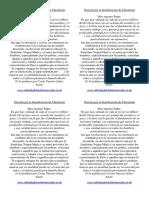 Back of Prayercard in Spanish Oración por la beatificación de Chesterton