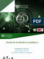 TALLER DE ESCRITURA ACADÉMICA