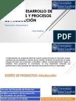 Diseño y desarrollo de productos, procesos