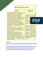 PARALELO ADMINISTRACION PUBLICA Y PRIVADA