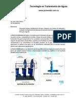 Sistema Potabilización de Agua 03 -07 litros-seg Katalox- Purewater