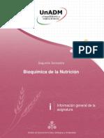 Información general,de la,asignatura BIOQUIMICA UNADM
