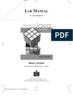 Starting Out With Java - Lab Manual