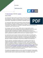 Extractivismo e información