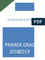 Planeación. Mes de octubre. 1° grado. 2018-2019.docx