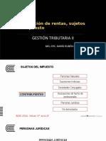 CLASIFICACIÓN DE RENTAS
