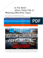 4 Ways to Fix Boot Configuration Data File Is Missing
