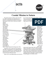 NASA Facts Cassini Mission to Saturn