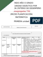 PUD (MICRO CURRICULAR) MATEMÁTICA  SEGUNDO DESAGREGADO