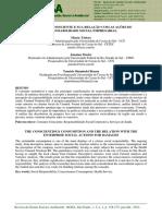Artigo - O CONSUMO CONSCIENTE E A RELAÇÃO COM AS AÇÕES DE RESPONSABILIDADE SOCIAL EMPRESARIAL
