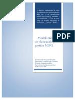 MODELO INTEGRADO DE PLANEACIÓN Y GESTIÓN MIPG
