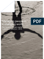 Managing People in a Changing World - Key Trends in Human Capital - A Global Perspective 2010