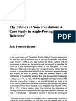 JFD a Politics of Non-translation