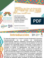 proyecto departamental de desarrollo 2016 - 2019