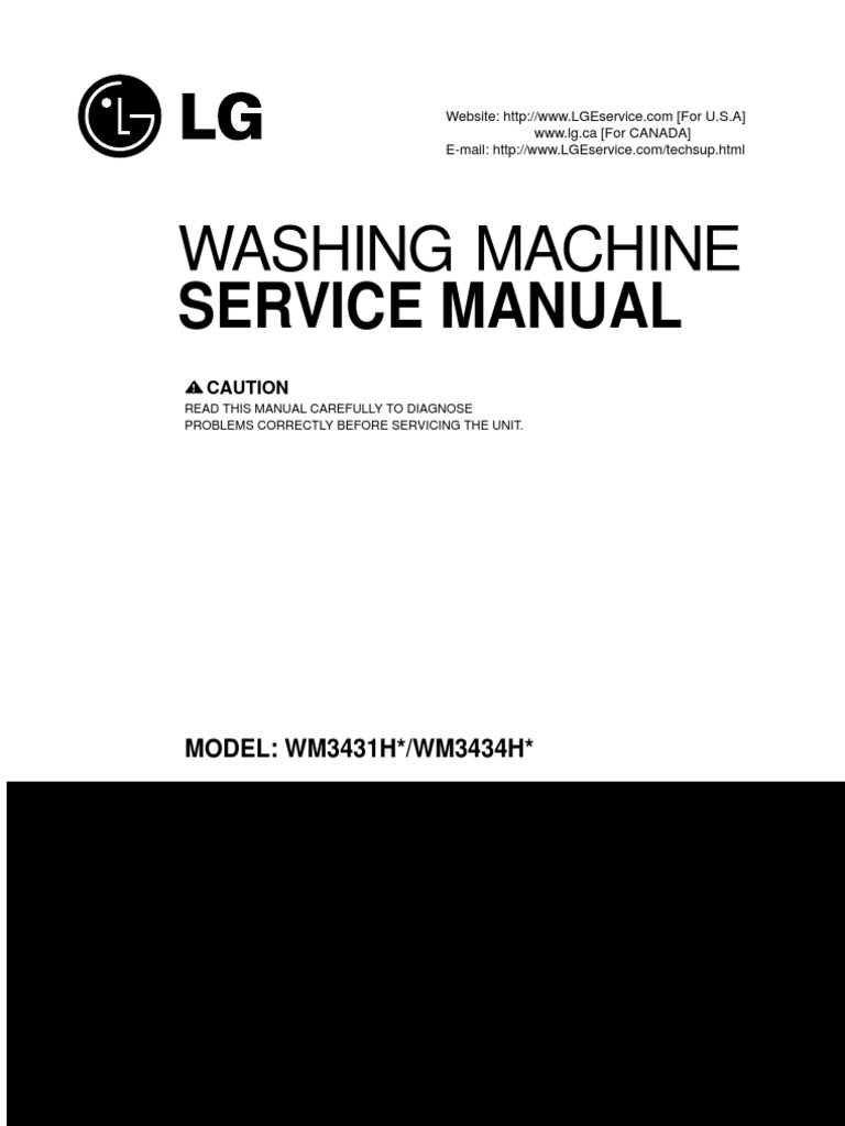 wm3431xx service manual lg washing machine electrical. Black Bedroom Furniture Sets. Home Design Ideas