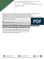 Consumer discretionary & pharma to lead the next bull run; 20 stocks in Morgan Stanley focus list - Moneycontrol.com