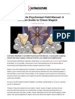 The Complete Psychonaut Field Manual A Cartoon Guide to Chaos Magick
