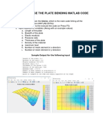 MANUAL TO USE THE PLATE BENDING MATLAB CODE
