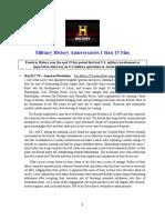 Military History Anniversaries 0501 Thru 051519