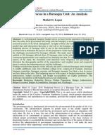 Budgeting Process in a Barangay Unit - An Analysis