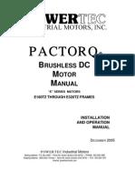 Paqtorq E-Series Motor Manual
