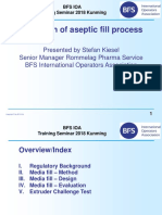 Validation of aseptic fill process