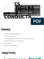 BASES BIOLÓGICAS DE LA CONDUCTA CLASES LUNES
