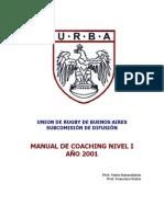 Rugby - Urba_manual de Entrenamiento_nivel 1