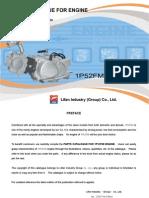 Lifan 125cc 1P52FMI parts list manual