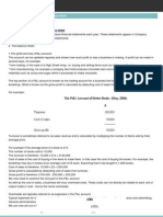 Profit and Loss Accounts and Balance Sheet