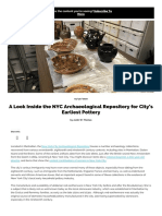 A Look Inside the NYC Archaeological Repository for City's Earliest Pottery - Untapped New York