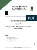 Grupo n°5 - Operativa Aduanera + Destinaciones