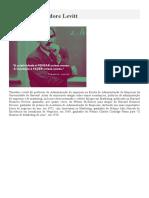 Biografia de Theodore Levitt