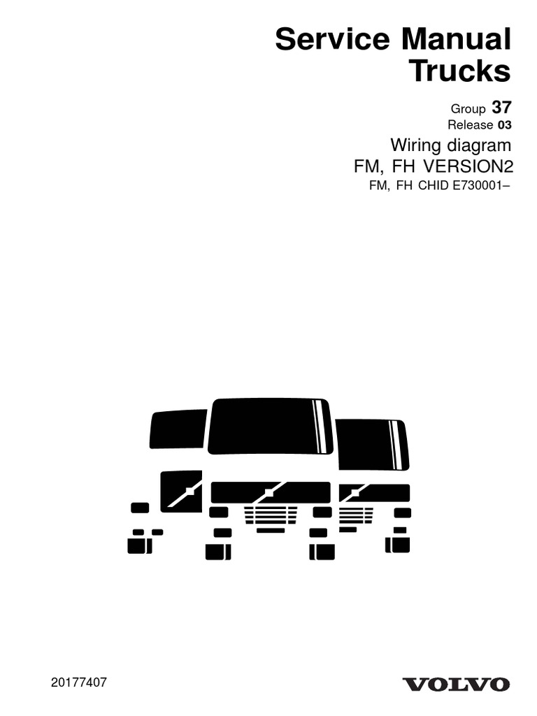 Service Manual Trucks: Wiring diagram Fm, Fh Version2