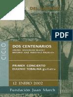 Dos Centerarios-RRA; JM Palacios