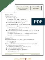 Devoir de Contrôle N°1 - Math - 3ème Sciences exp (2010-2011) Mr Hafsi salem