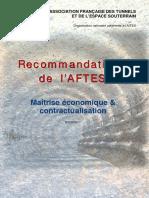 AFTES - Maitrise économique et contractualisation
