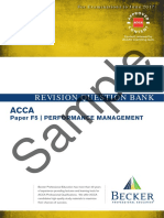 Sample REVISION QUESTION BANK. ACCA Paper F5 PERFORMANCE MANAGEMENT