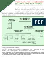 GRADO  9°TAXONOMIA DE LA CLASIFICACIÓN.doc