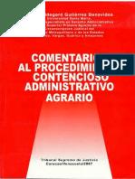 COMENTARIOS AL PRCDMTO ADMINISTRATIVO AGRARIO