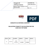 Ballasting Calculation for the Transportation of PLEMs