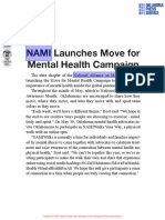 NAMI Launches Move for Mental Health Campaign