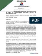 Circular de la Secretaría de Educación de Sucre-01-05-2020