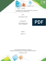 Fase 4 - Evaluar la calidad de las aguas subterráneas y proponer alternativas de c