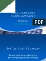 Audit Manajemen Fungsi Keuangan