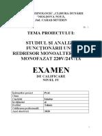 STUDIUL ŞI ANALIZA FUNCŢIONĂRII UNUI REDRESOR MONOALTERNANTA MONOFAZAT 220V24V1A.docx