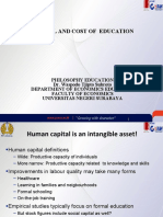 Education Philosophy--12--Capital and Cost of Education